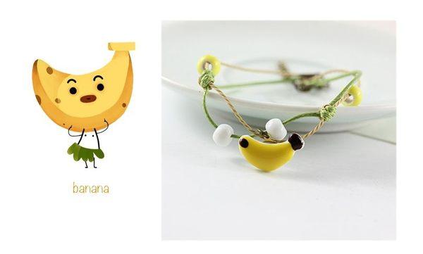 Star 陶藝系列 -「清涼一夏」可愛香蕉陶瓷手鏈-C15