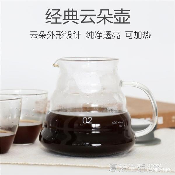云朵壺咖啡花茶分享壺高硼硅耐熱玻璃手沖咖啡器具滴漏滴濾式下壺『快速出貨』