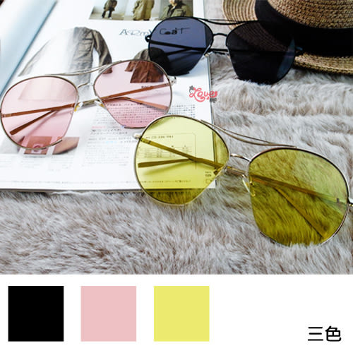 韓國GD&TOP 同款太陽眼鏡 鏡片墨鏡 太陽鏡 墨鏡 三色
