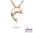 威世登 天然鑽石《心動系列》海的呼喚 K金小套鍊 足成色14K玫瑰金鑲製- 韓風設計-JDB01800-3-AGEXX