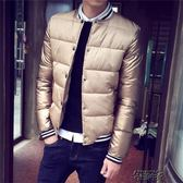 男士外套冬季男裝青年棉衣修身短款棉服加厚棉襖