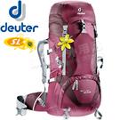 Deuter 3340015_紫/深紫 35+10SL輕量拔熱式透氣背包 Act Lite登山健行背包