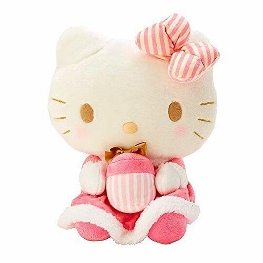 小禮堂 Hello Kitty 絨毛玩偶 絨毛娃娃 中型玩偶 布偶 (M 粉聖誕洋裝) 4550337-14121