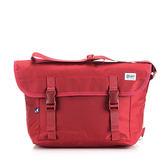 《高仕皮包》【免運費】KANGOL 輕量防潑水郵差包.紅色KG1116-01-RED