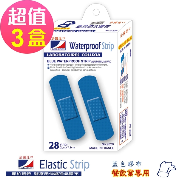 LaboRat那柏瑞特 藍色鋁膜防水膠布 28片/盒 2x7.2cm(3盒販售)