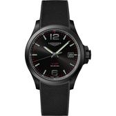 LONGINES浪琴 征服者系列V.H.P.萬年曆手錶-黑/43mm L37262569