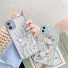 iPhone12 蘋果手機殼 可掛繩 小清新雛菊薰衣草 矽膠軟殼 iX/i8/i7/SE