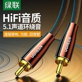 綠聯同軸音頻線SPDIF純銅高保真coaxial