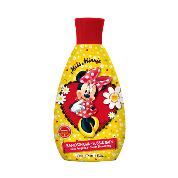 【義大利原裝進口】Disney Minnie泡泡浴 (甜草莓)300ml