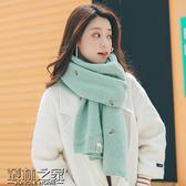 【618好康又一發】圍巾女冬季韓版百搭圍巾刺繡菠蘿雙面加厚保暖披肩圍脖