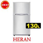 HERAN 禾聯 HRE-B1311 雙門電冰箱 130L 移動式玻璃層架 公司貨 ※運費另計(需加購)