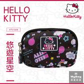 Hello Kitty 零錢包 悠遊星空 凱蒂貓 滿版印花 雙拉鍊 錢包 KT01Q08 得意時袋