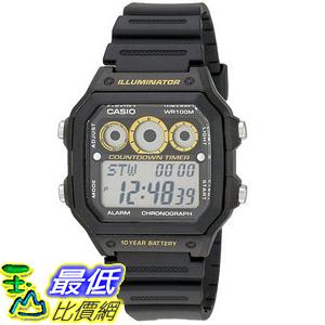 [美國直購] Casio Men s AE-1300WH-1AVCF 手錶 Illuminator Digital Sport Watch with Black Resin Band