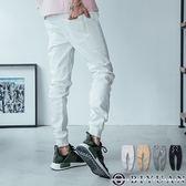 超彈力螺紋束口褲/長褲【HK4203】OBIYUAN口袋皮標 JOGGER休閒褲 共4色