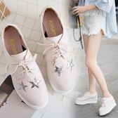 春季上新 zipper鞋軟妹小皮鞋女學生百搭春季單鞋女鬆糕厚底韓2018新款女鞋