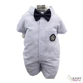 【北投之家】嬰兒紳士兔裝 婚宴花童西裝禮服正式服裝 藍羅賓襯衫 | 正韓童裝 (嬰幼兒/寶寶)