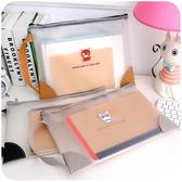 手提A4透明拉鏈文件袋韓國檔案收納包