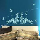☆阿布屋壁貼☆歐式花紋 B  -M尺寸  壁貼