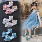 女童冰雪奇緣新款愛莎公主鞋小女孩軟底涼鞋兒童艾莎水晶鞋表演鞋 小艾新品