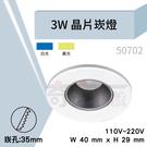 【奇亮科技】含稅 崁孔3.5cm 3W 晶片崁燈 小瓦數崁燈 ITE-50702