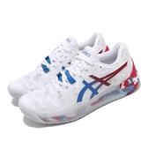 Asics 網球鞋 Gel-Resolution 8 L.E. Retro Tokyo 白 紅 女鞋 復刻東京 運動鞋 【PUMP306】 1042A095100