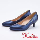 kadia . 優雅水鑽字母高跟鞋9545 55 藍色