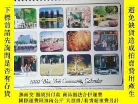 二手書博民逛書店英文原版:1999罕見Blue Ash Community CalendarY7688 THE CITY OF