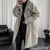 風衣外套 2021秋冬季中長款風衣潮流百搭寬鬆大衣港風韓版男士外套 小天使