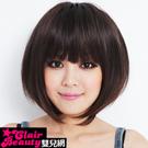 妹妹頭BOBO短假髮【201AE】短髮~齊斜瀏海髮短髮~高仿真整頂假髮~雙兒網