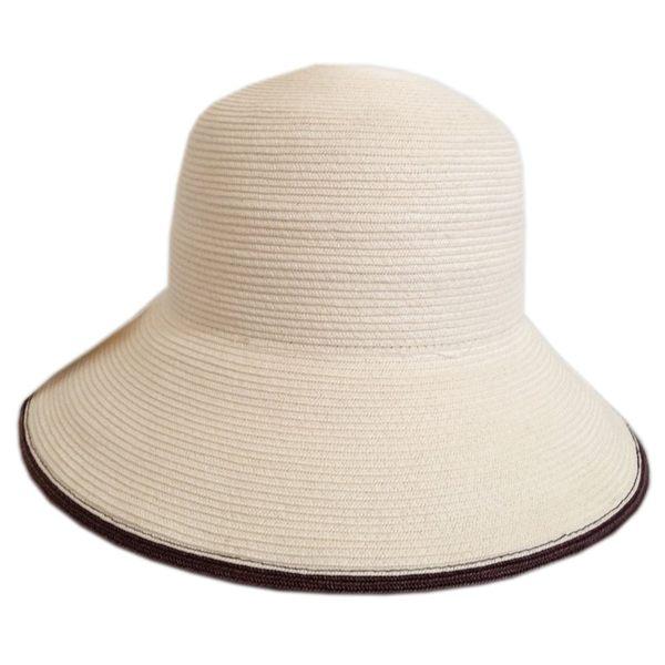 防曬UP!!小顏效果UP! MIT紙紗編織 寬緣淑女帽(共5色)