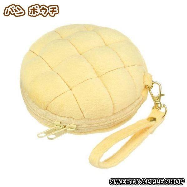 日本限定 INTERIOR 菠蘿麵包造型 絨毛 收納袋 / 零錢包
