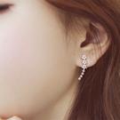 現貨不用等 韓國氣質甜美微鑲星星花朵流線鋯石925銀針耳環 S93392 批發價 Danica 韓系飾品
