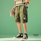 短褲男夏季薄款五分褲寬鬆百搭褲子大碼中褲外穿工裝褲【聚物優品】