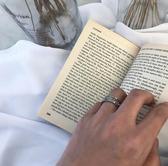 韓國東大門ins韓版簡約鈦鋼情侶款飾品鍊條戒指 男女