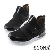 SCONA 蘇格南 輕量高彈力高筒休閒鞋 黑色 7267-1