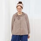 正韓 蕾絲荷葉圓領襯衫 (8067) 預購