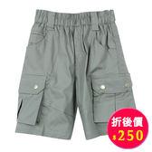 【愛的世界】休閒感鬆緊帶五分褲/2~3歲-台灣製- ★春夏下著