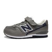 New Balance 中童鞋 灰 深藍 男女童鞋 兒童復古跑鞋 寬楦 慢跑鞋 NB 996 KV996GVY