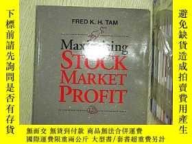 二手書博民逛書店Maximising罕見stock market profitY