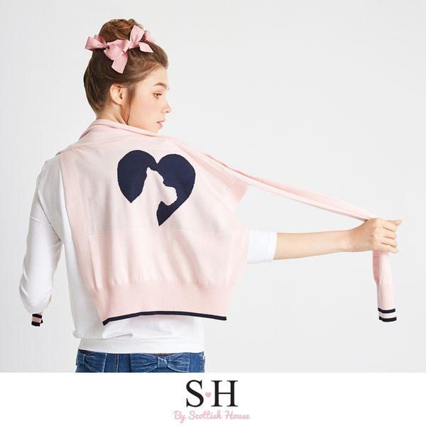 印花長板T恤+雙色LOGO緹花披肩 Scottish House【SA1402】