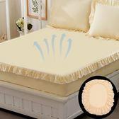 純棉花邊床笠單件全棉床罩防滑床套保護套1.8米 好康優惠