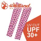 【Wildland 荒野 中性開洞抗UV透氣袖套《桃紅》】W1809/春夏款/抗UV/防曬袖套