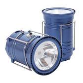多功能LED太陽能伸縮露營燈/探照燈/手電筒(鋼藍)