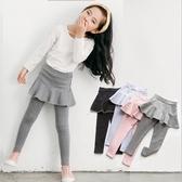 長褲 女童彈力伸縮裙褲