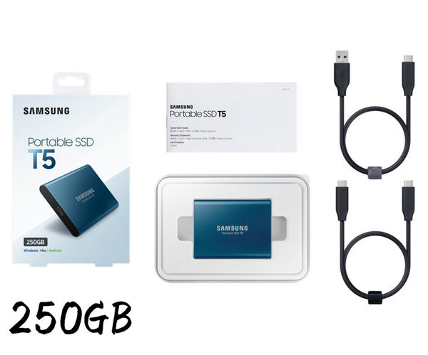 【8月限時促銷價】 三星 Samsung T5 250GB/外接SSD硬碟(MU-PA250B) 三年保固