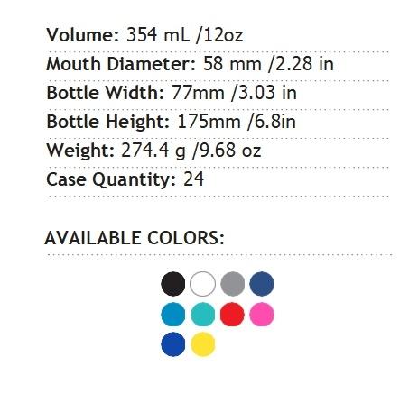 【線上體育】HYDRO FLASK HYDRATION系列 真空保冷/熱兩用鋼瓶12oz 354ml標準口 時尚黑, OS