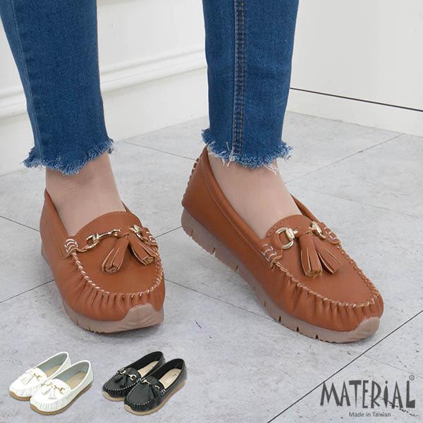 豆豆鞋 流蘇金屬裝飾莫卡辛鞋 MA女鞋 T3127