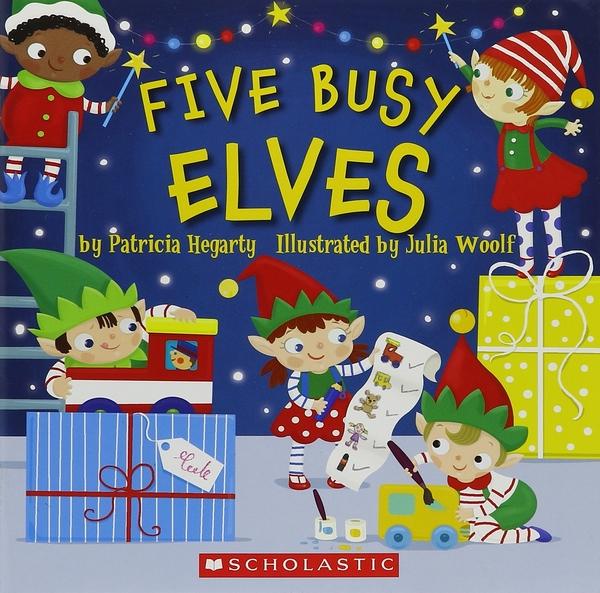 【麥克書店】FIVE BUSY ELVES/ 平裝繪本《主題: 聖誕節》