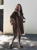 毛呢外套 毛呢外套女韓版秋冬季2020氣質流行小個子中長款過膝雙面呢子大衣 新年慶