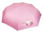 【卡漫城】 Hello Kitty 掛鉤把手 折傘 草莓 ㊣版 摺疊 雨傘 遮陽 洋傘 輕量防風 抗UV 三折傘 凱蒂貓